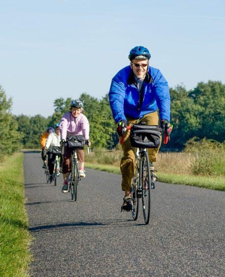 Adults on a bike tour in Loire Valley
