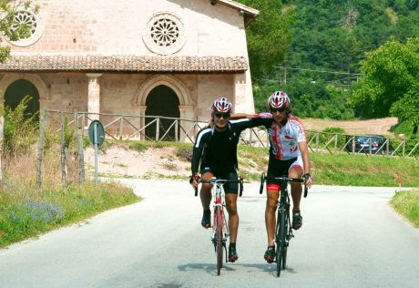 Pair of bikers in Umbria