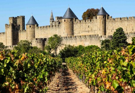 Medieval walled city of Carcassonne France