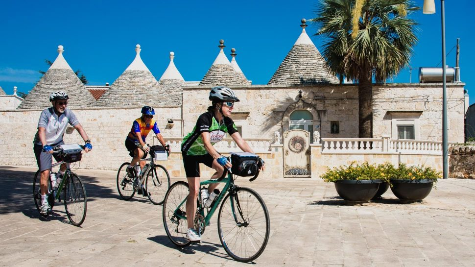 Biking on the La Bella Puglia tour