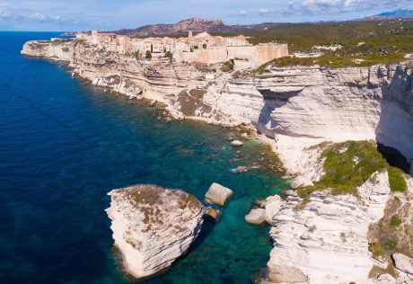 Cliff faces on Mediterranean coast