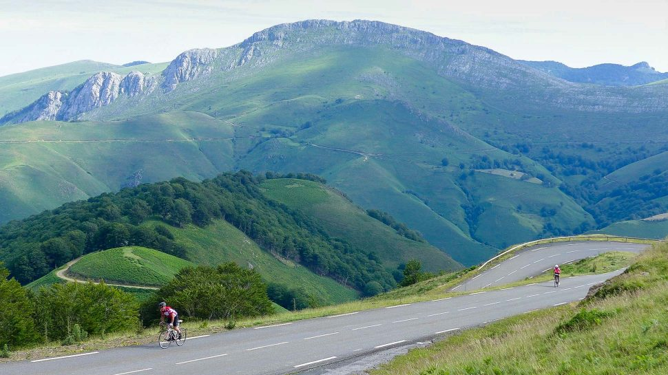 Bikers on the Pyrenees Sea to Sea tour