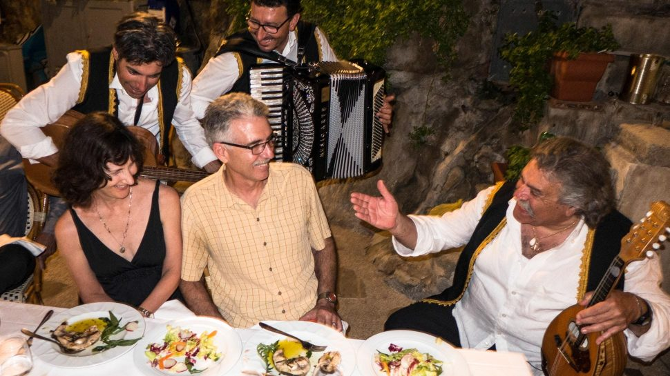 Dinner and singing in Souther Amalfi
