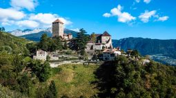 Castle under blue skies in Sud Tyrol