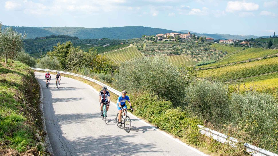 Bikers on the Tuscany and L'Eroica tour