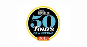 National Geographic Traveler 50 Tours of a Lifetime 2013 logo