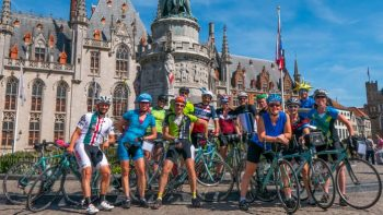 Bike group in Belgium