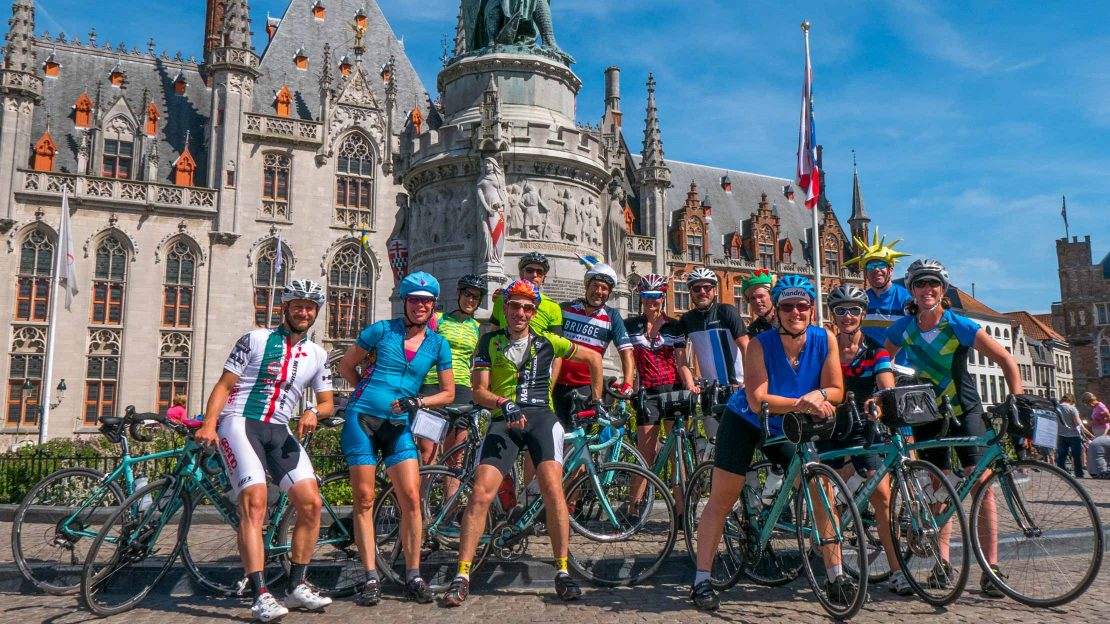 Bike group from Bike Across Belgium tour