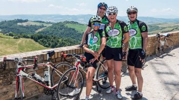 Bikers from Bike Across Italy tour