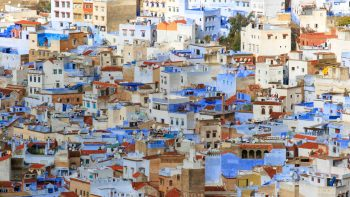 Moroccan blue buildings