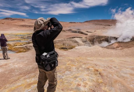 Photographer in Atacama Desert