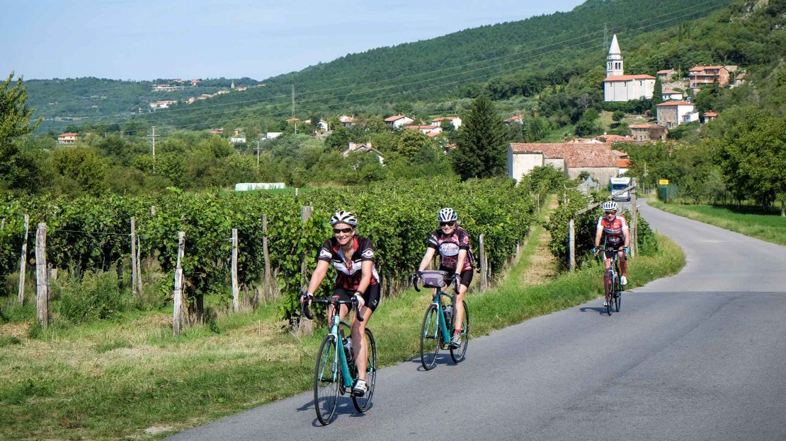 Bikers on a Croatia's Istrian Peninsula tour