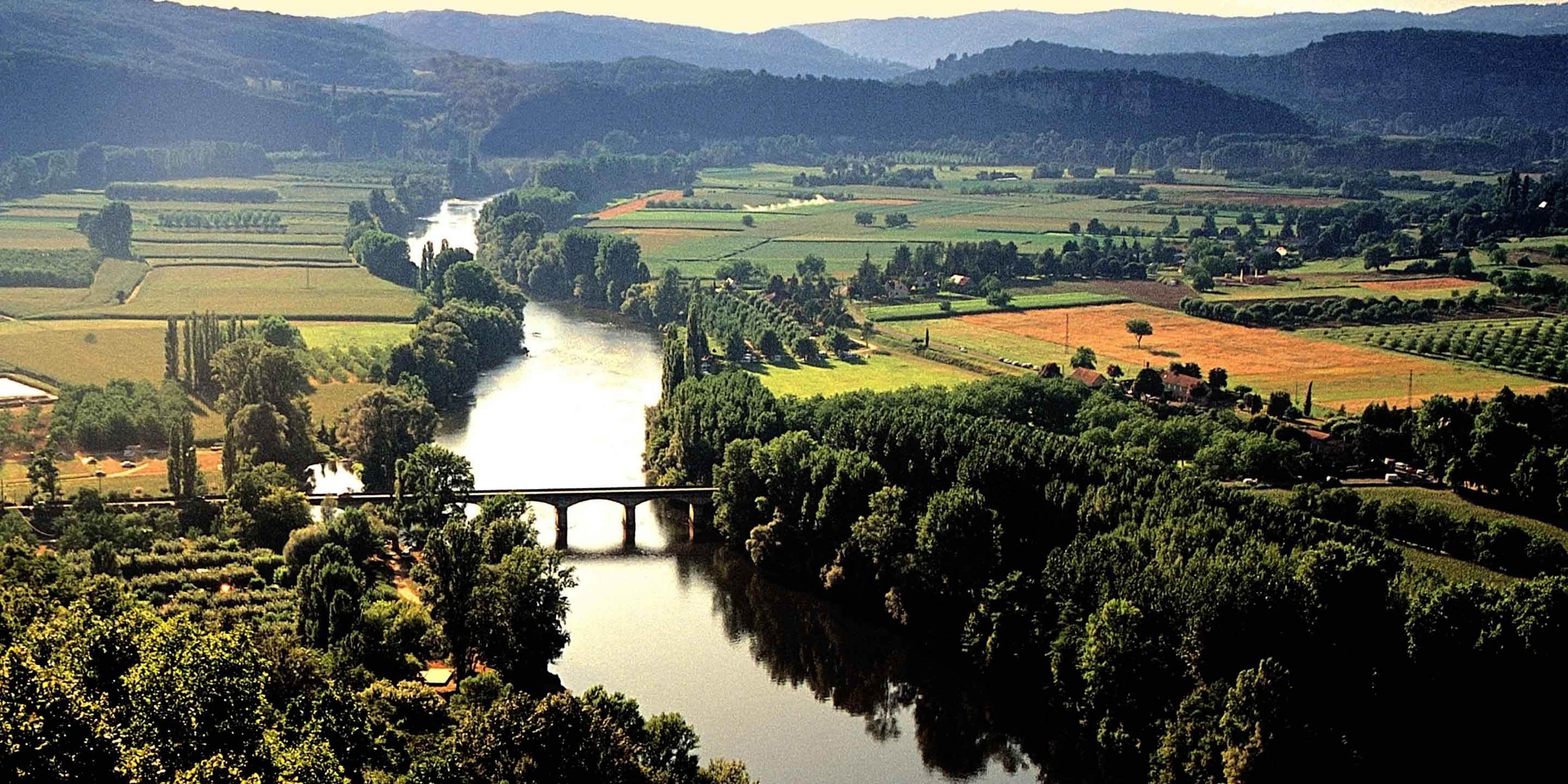 Aerial of Dordogne, France
