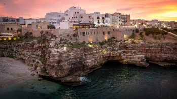 La Bella Puglia city cliff at sunset