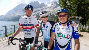 Bikers on the Majestic Dolomites tour
