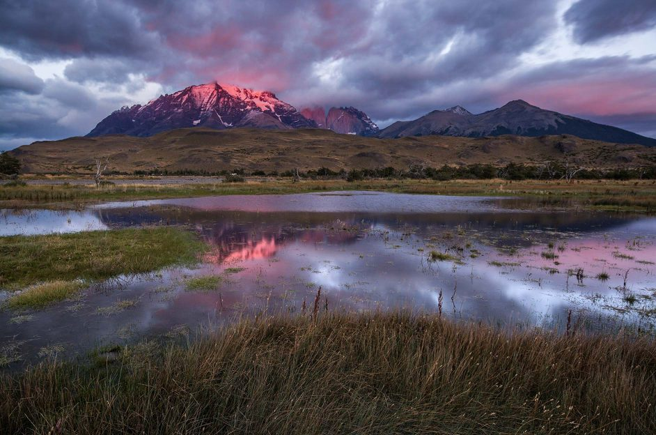 Patagonia mountains at sunset