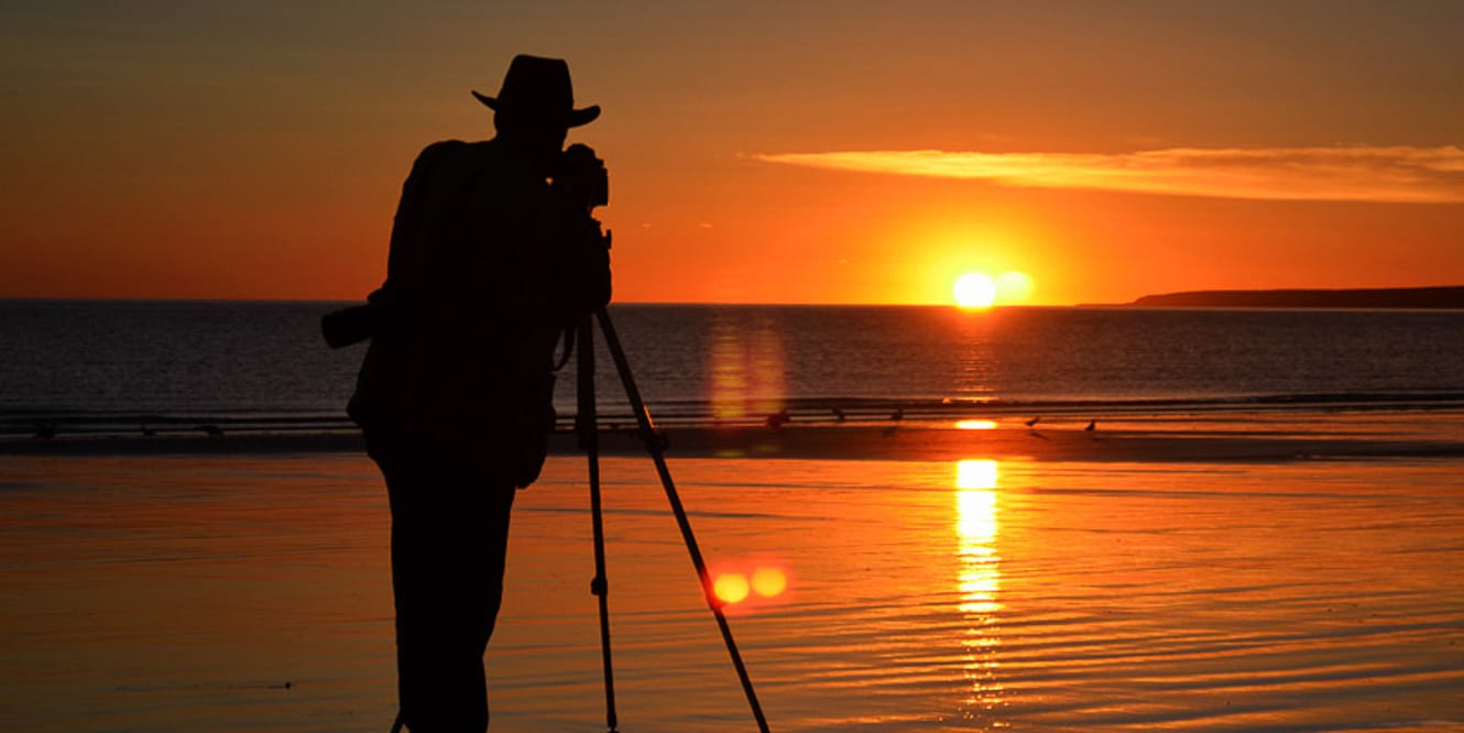 Photography a sunset in Argentina