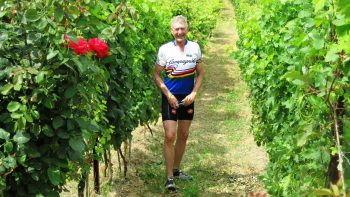 Man in a vineyard on the Piedmont: Barolo & Truffles tour