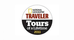 National Geographic Traveler Tours of a Lifetime 2011 logo