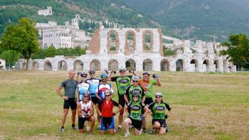 Bike group in Umbria