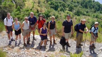 Hiking group in Amalfi Coast