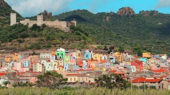 Colorful town in Sardinia