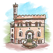 Illustration of an Italian building